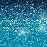 """Hair Flairs Pro Hair Tinsel - 100 Strands, 36"""", Sparkle Ocean Blue"""