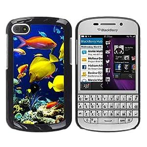 Paccase / SLIM PC / Aliminium Casa Carcasa Funda Case Cover para - Underwater Coral Reef Diving Scuba Fish - BlackBerry Q10