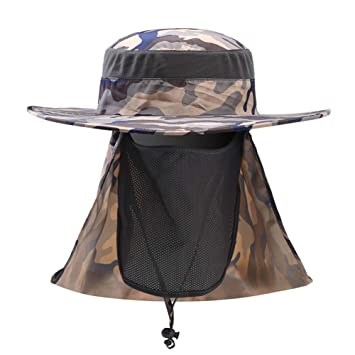 08b814dacfc Winfa Sun Flap Cap Fishing Boating Hiking Army Military Snap Brim Ear Neck  Cover  Amazon.co.uk  Sports   Outdoors