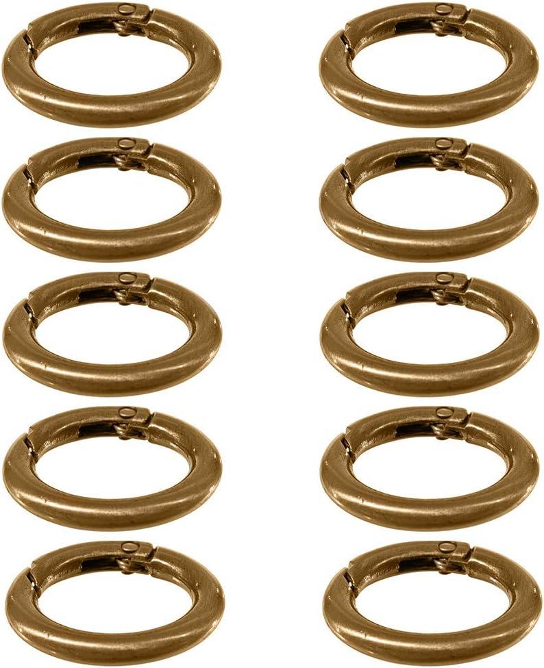 West Coast Paracord - 10 mosquetones de aleación de zinc, cierre de mosquetón redondo, accesorio de organización de anilla de resorte de gatillo, soporte de metal seguro, duradero, a prueba de óxido