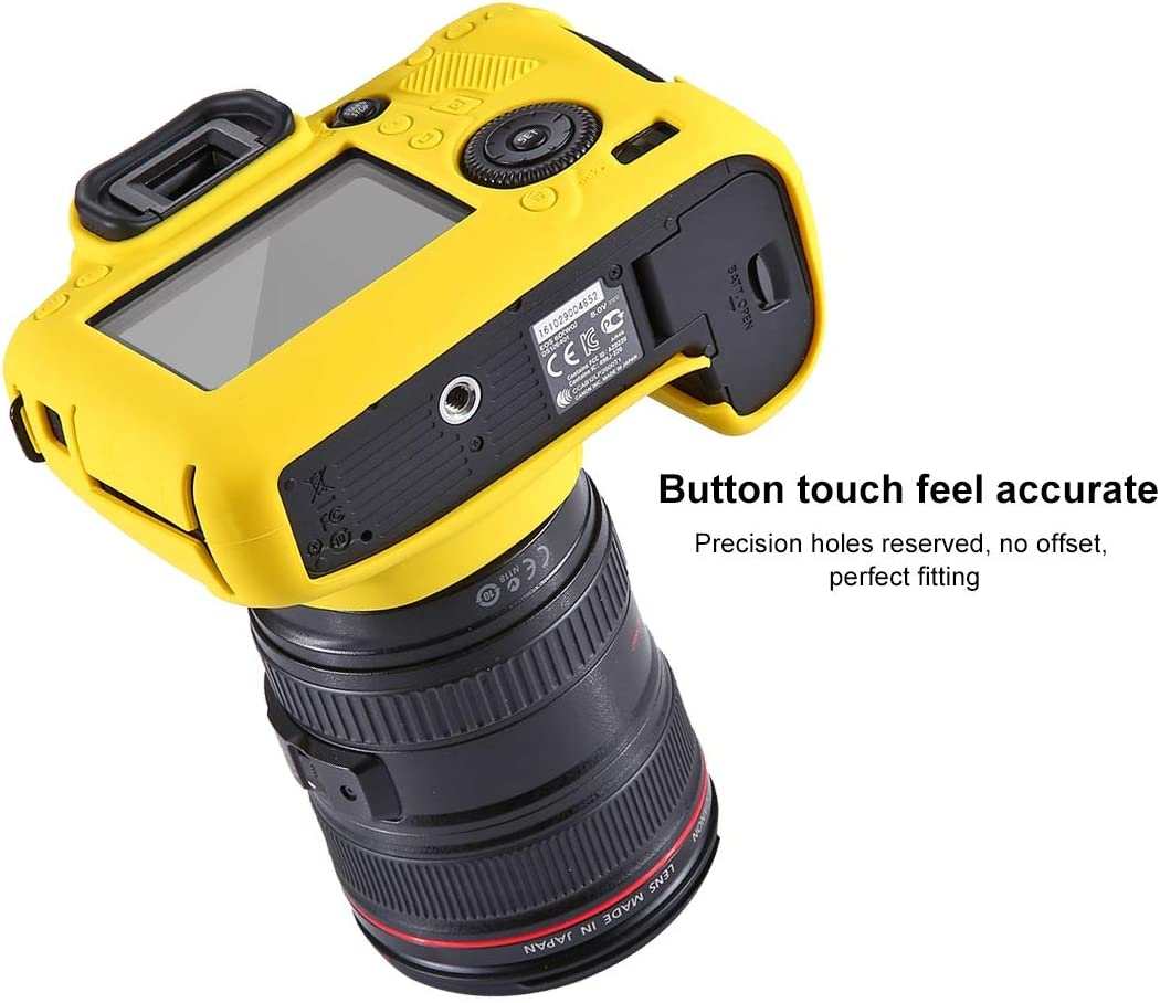 Camouflage Color : Color1 YANTAIANJANE Camera Accessories Soft Silicone Protective Case for Canon EOS 6D