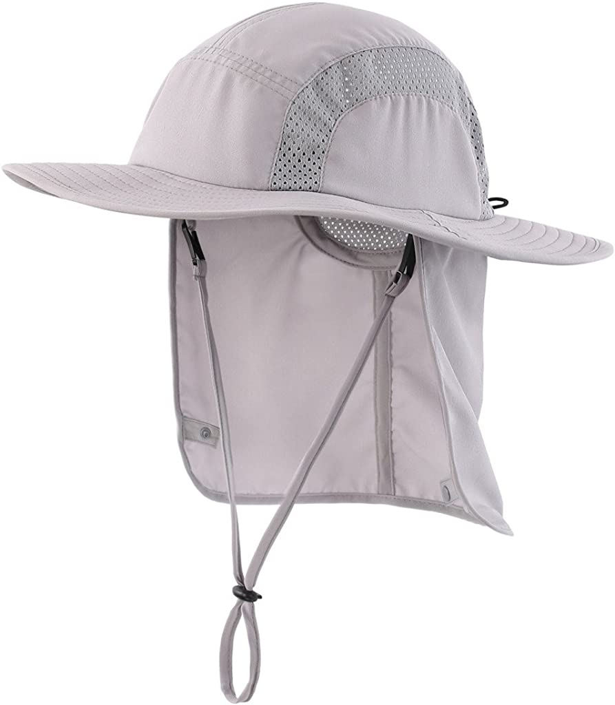 Home Prefer Kids Safari Hat UPF 50+ Sun Hat Toddler Boys Bucket Hat Neck Flap