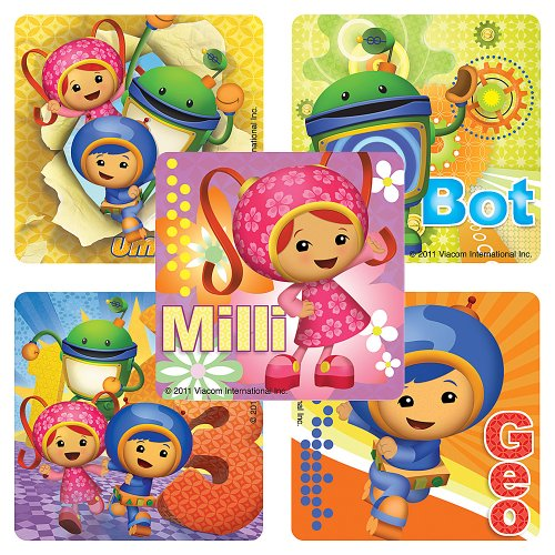Team Umizoomi Stickers - 100 Per