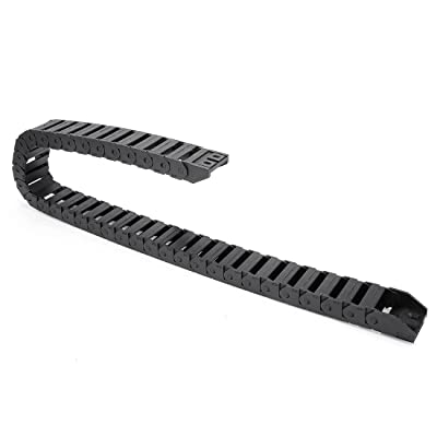uxcell R28 15mm x 30mm Black Plastic Wire Carrier Cable Drag Chain 1M Length for CNC: Home Improvement