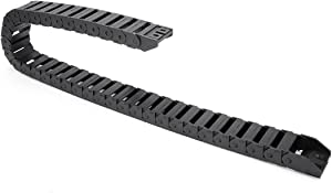 uxcell R28 15mm x 30mm Black Plastic Wire Carrier Cable Drag Chain 1M Length for CNC