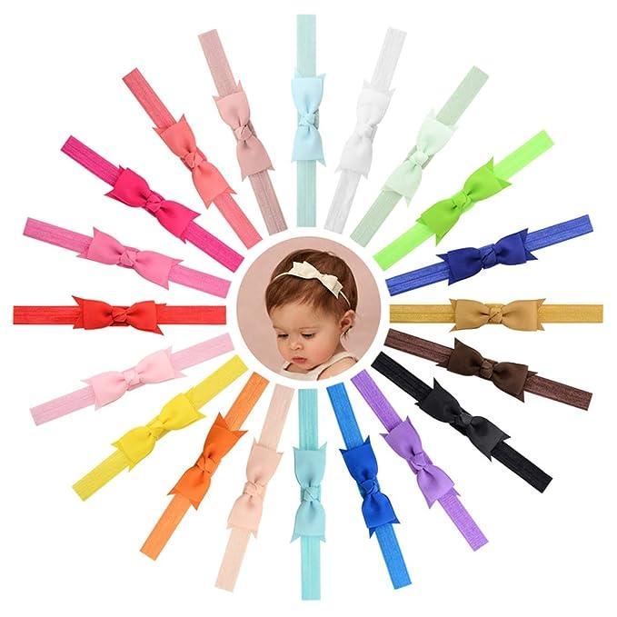Bowing dei capelli della fascia della cinghia delle costole della neonata  per i bambini infantili 20pz 8ebde7650a99