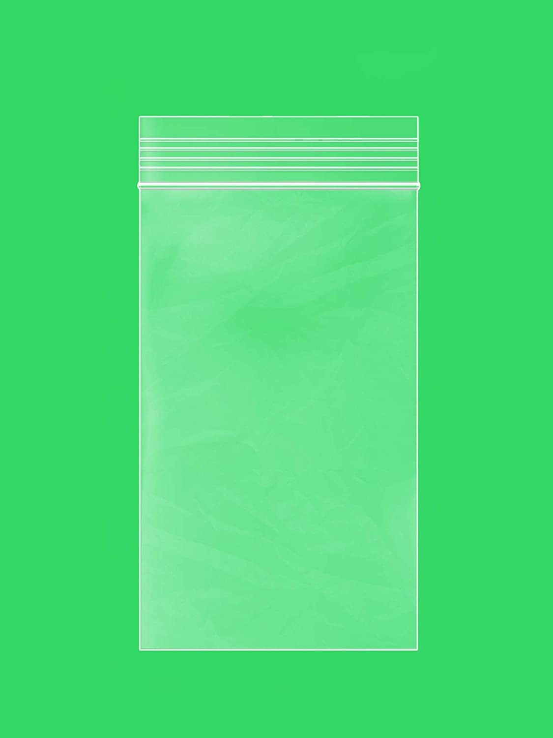 3 x 5 inches, 2Mil Clear Reclosable Zip Lock Bags, case of 1,000 GPI Brand