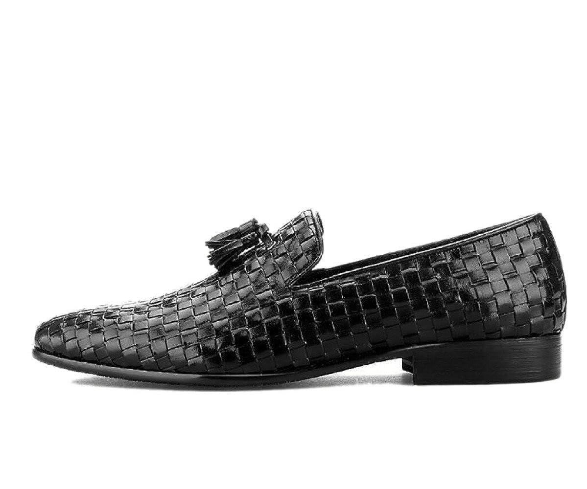 Casual Business Mann Schuhe Schuhe Bohnen Faul Breath Net Schuhe Schuhe Oxford Spitze Schuhe Runde Kopf Weichen Boden schwarz 295d90