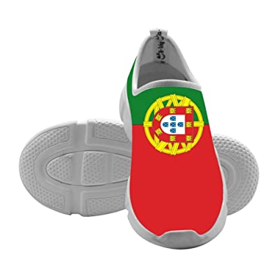 Lu4ky Children's Portugal Flag Lightweight Leisure Sports Shoes