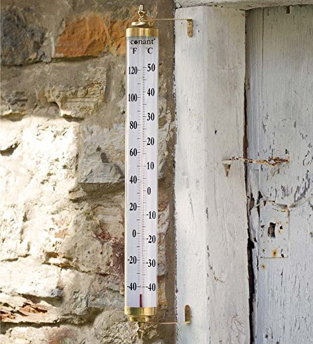 Extra-Large Brass Thermometer by Wind & Weather