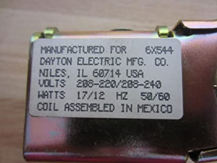 Dayton 6X544 Solenoid Valve Coil 208//240v T18909 for sale online
