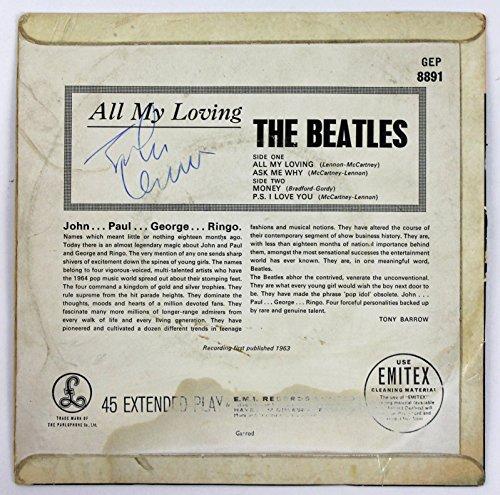 Beatles John Lennon Signed All My Loving Parlaphone 45 Rpm Album Epper