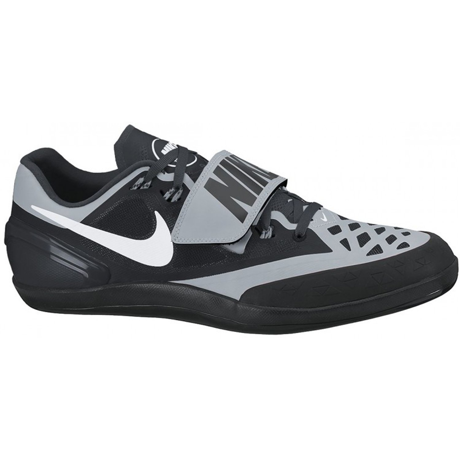 a4828b024ca27 Nike Zoom Rotational Shot Put Discus Hammer Throws Shoes Black Silver Mens  Size 7.5 (Womens 8.5)  Amazon.ca  Shoes   Handbags