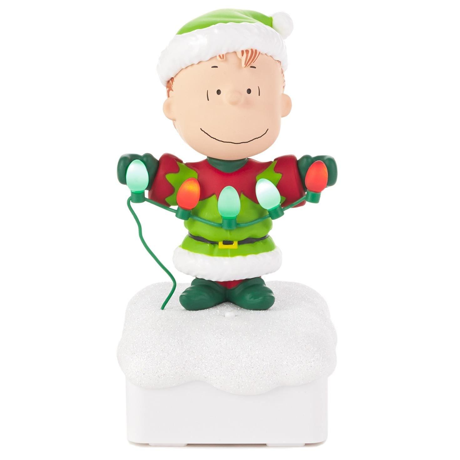 Amazon.com: Hallmark Linus Peanuts® Gang Christmas Light Show ...