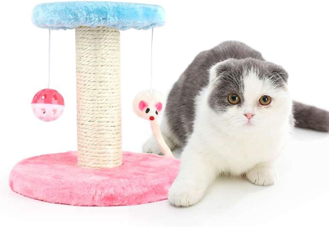 Cat Tree Cat Tower with Natural Sisal Scratching Posts - Cat Activity Platform Furniture with Hanging Ball and Mouse Toys, Cat Scratching Postsand for Pet Kitten Small Cats