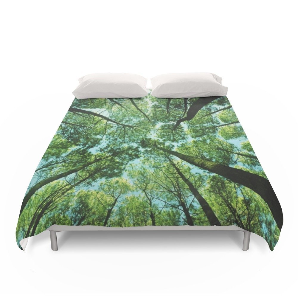 Society6 Looking Up In Woods Duvet Covers Full: 79'' x 79''