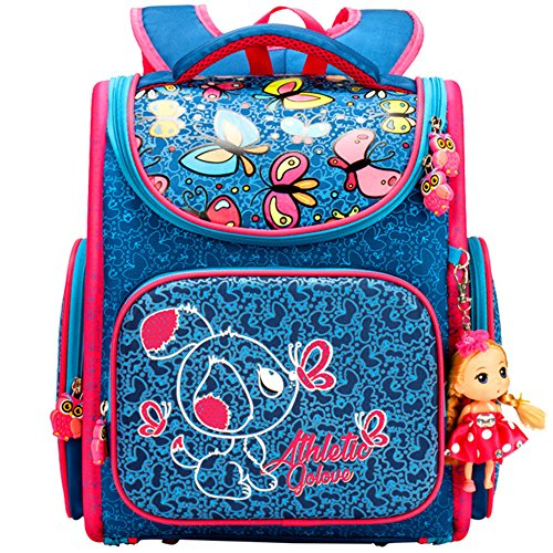 Price comparison product image Girls' Backpacks School Bags For Elementary Cartoon Flower Waterproof With Cute Dolls