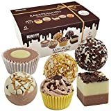 """BRUBAKER Cosmetics 6 Handmade """"Chocolate Love"""" Spa Bath Bombs Bath Melts Gift Set - All Natural Vegan, Organic Shea Butter, Cocoa Butter and Olive Oil Moisturize Dry Skin"""