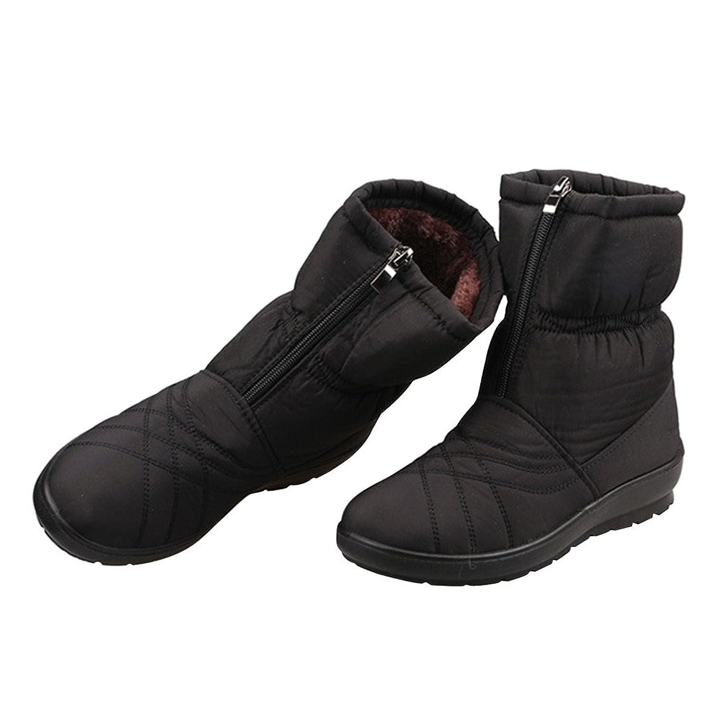 Dear Time Women Zipper Winrer Cotton Ankle Boots