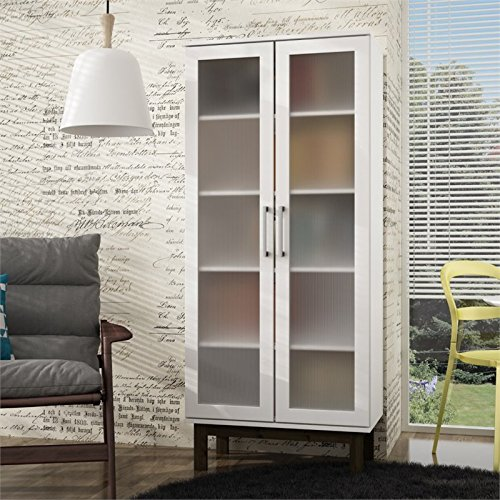 Accentuations by Manhattan Comfort 63AMC143 63AMC143-MC Serra Bookcase 3.0, White