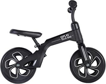 Q-Play Bicicleta sin Pedales Bicicleta de Equilibrio Primera Bicicleta Niño Niña 10 Pulgadas Negro: Amazon.es: Deportes y aire libre