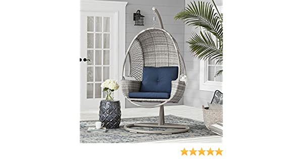 Amazon.com : Outdoor Hand-Woven All-Weather Wicker Hanging ...
