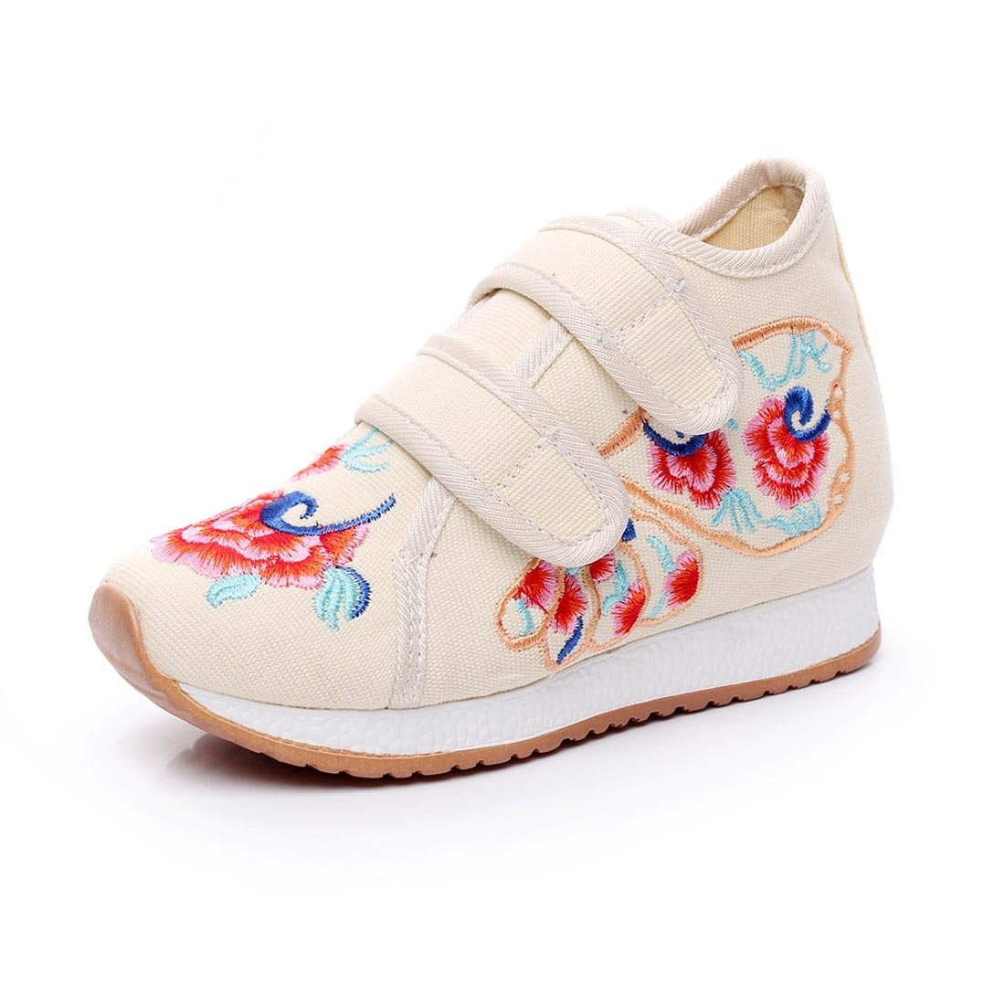 YIBLBOX Boys Girls Denim Embroidery Fashion Sneakers Running Walking Shoes