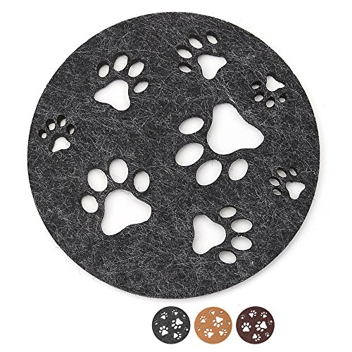 Dulce Cocina iLove Paw Coasters Large Set of 6 Grey - Gift Worthy