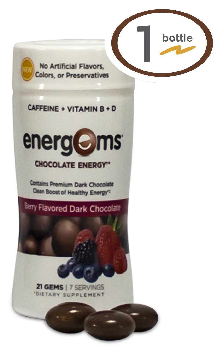Amazon.com: Energems Energy Boost Gems, 1 Bottle (21 Gems), Dark ...