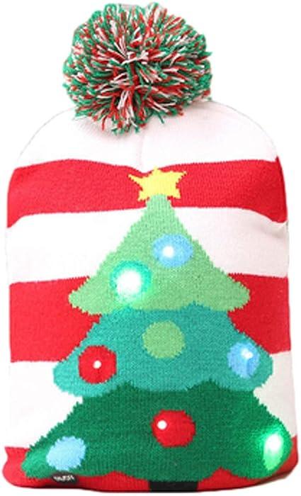 098a3b7582571 Fashion Christmas LED Light Up Hat Beanie Knit Cap Ugly Xmas Holiday Hat -3  Flashing