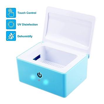 REAQER electrónico secador de audífonos seco caja Estación de limpieza para audífono(Azul): Amazon.es: Salud y cuidado personal