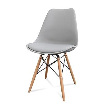 X Lot Clair Chaise Bois Dsw Pieds Mobistyl Inspiration Design De 2 Ym7vyIb6gf
