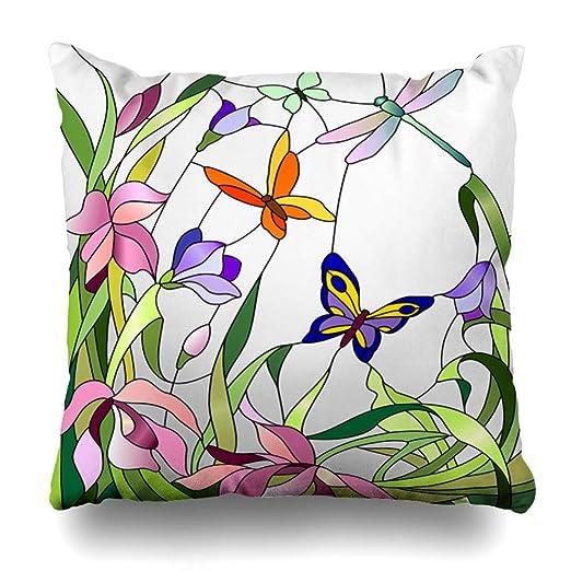 Ahawoso - Funda de Almohada Decorativa para jardín, diseño ...