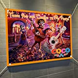 Coco Banner Large Vinyl Indoor or Outdoor Banner Sign Poster Backdrop, party favor decoration, 30'' x 24'', 2.5' x 2'