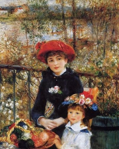 (Pierre Auguste Renoir Two Sisters Aka On The Terrace 72x90 [Kitchen])