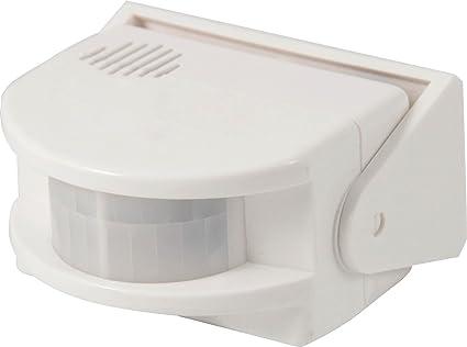 Electraline 58413 Detector sensor de presencia con alarma, color blanco,