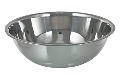 Stainless Steel Catering Large Mixing Bowl Washing Up Bowl 40 Cm