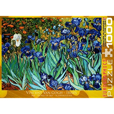 EuroGraphics Irises by Vincent Van Gogh Puzzle (1000-Piece): Toys & Games