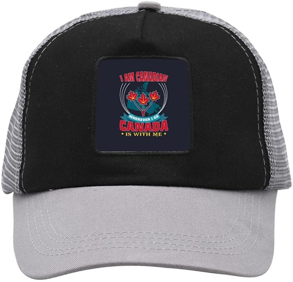Mesh Cap Hat for Men Women Unisex,Print I Am Canadian