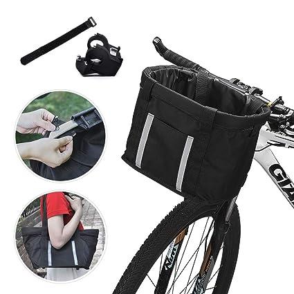 Amazon.com: ANZOME - Cesta para bicicleta, plegable para ...