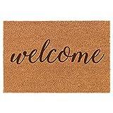 Daylor Coir Door Mat Doormat Welcome Script
