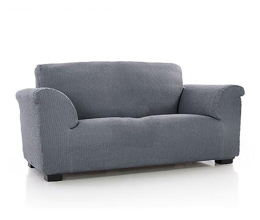 textil-home Funda de Sofá Elástica TIDAFORS, 3 plazas - Desde 180 a 240 cm. Color Gris (Modelo Exclusivo Funda Sofá TIDAFORS IKEA)