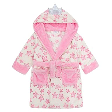 Fairy Princess Girls Hooded Dressing Gown Super Soft and Snuggly 2-6 ...