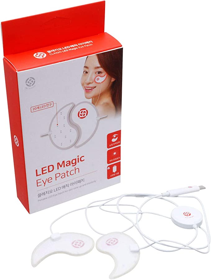Magic Eye Patch Led Mask Led Light Therapy Pads Easy Lightweight Portable Phone Battery Powered Undereyes Smile Lines Treatment Amazon Co Uk Beauty