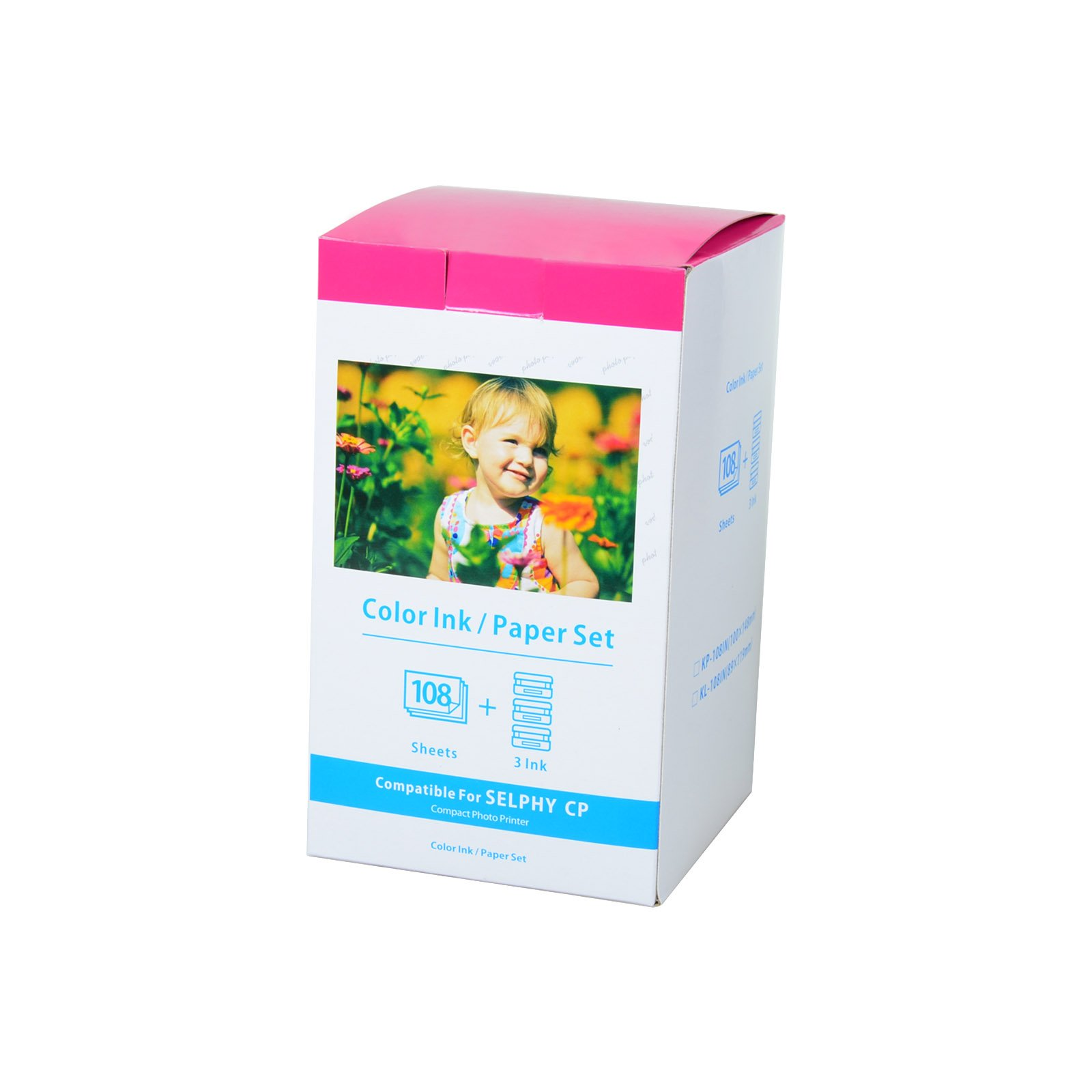 KCMYTONER 1 Pack Compatible Canon KP-108IN KP108 3 Color Ink Cartridges and 108 Sheets Paper Set 4''x6'' 100 x148mm for Selphy CP1300 CP1200 CP910 CP900 CP760 CP770 CP780 CP800 Wireless Compact Photo