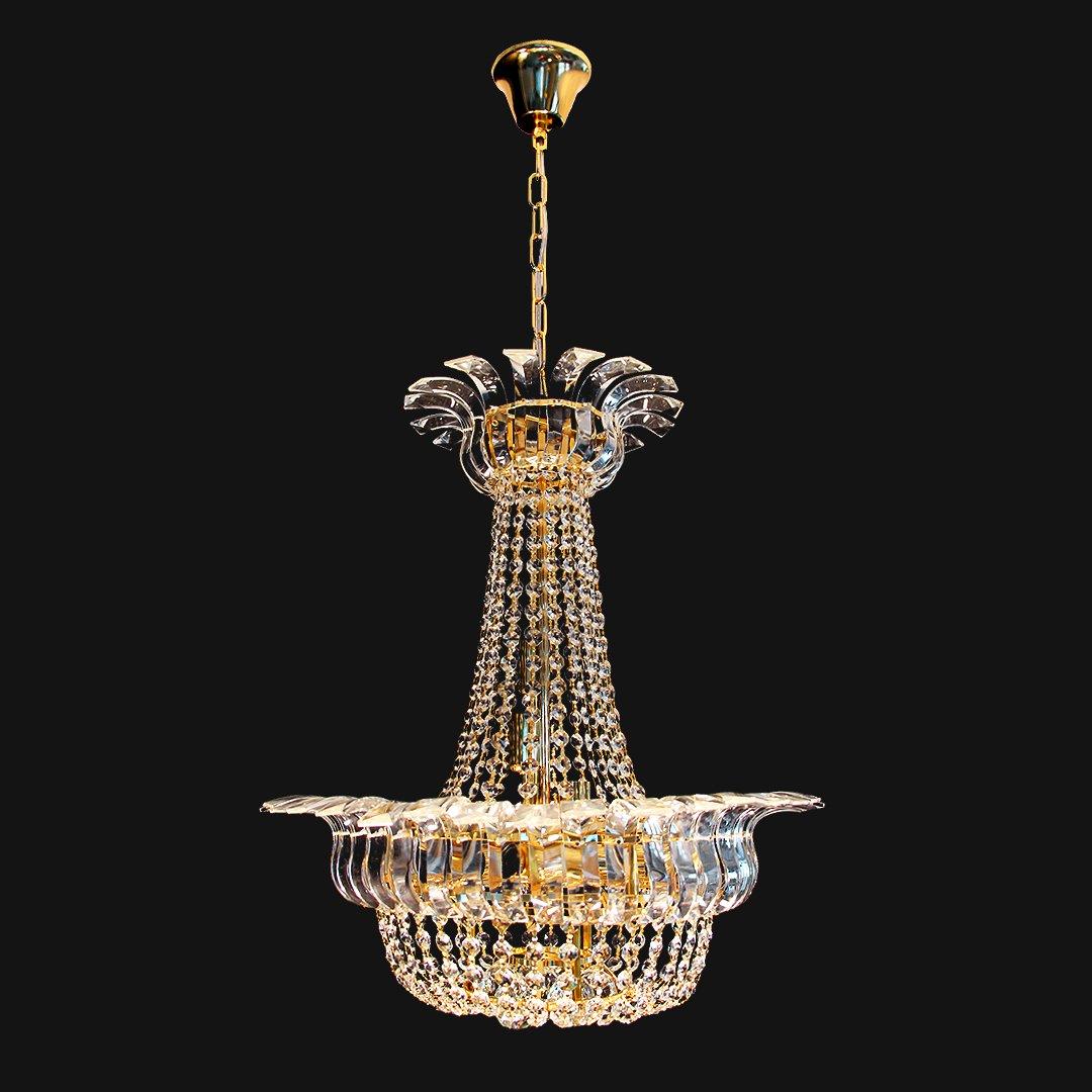 Crystal chandelier/pendant light fixture for high foyer/living room/hotel hallway-Z17018 (8 Lights)