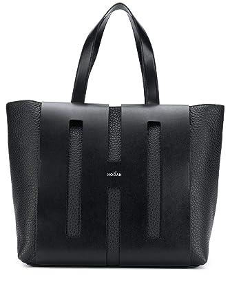 magasin en ligne b5e78 f677d Hogan Femme Kbw015a0400ksyb999 Noir Cuir Sac À Main: Amazon ...