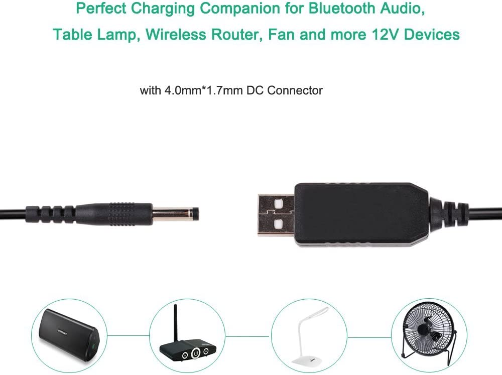 10pcs 1.5M 5Ft USB Male to 2.1mm 5.5x2.1mm DC Power Plug cable cord with Switch