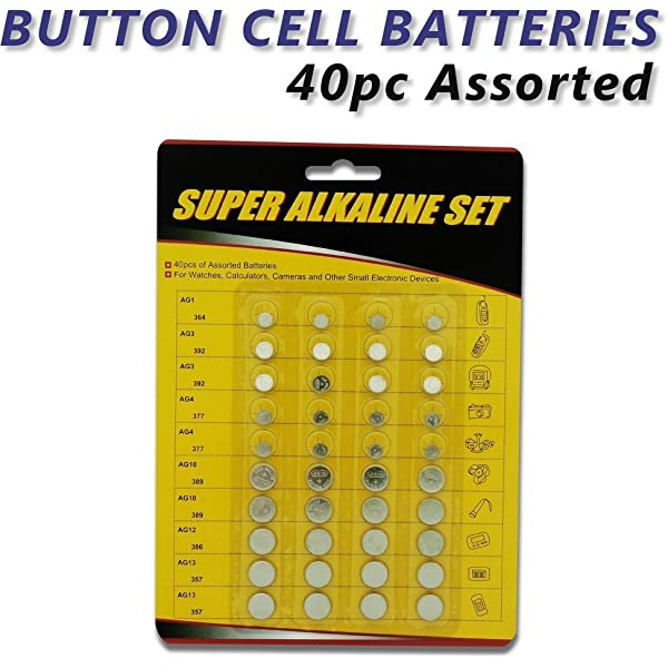 80pc Assorted Coin Cell Battery Kit For Car Alarms Key FOBs Remote Starters