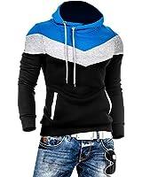 Summer River Mens Novelty Color Block Hoodies Cozy Sport Autumn Outwear SW002